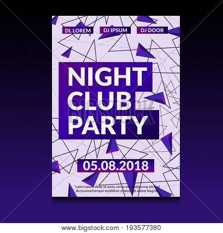 Night Dance Party Design A4 Proportion Vector Eps 10 Design