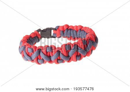 Colbert, WA - June 9, 2017: Paracord survival bracelets made in the USA, in Gonzaga University's colors, illustrative editorial