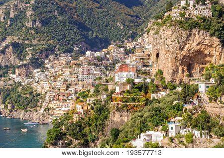 Cliff side village of Positano - Amalfi Coast, Campania, Italy