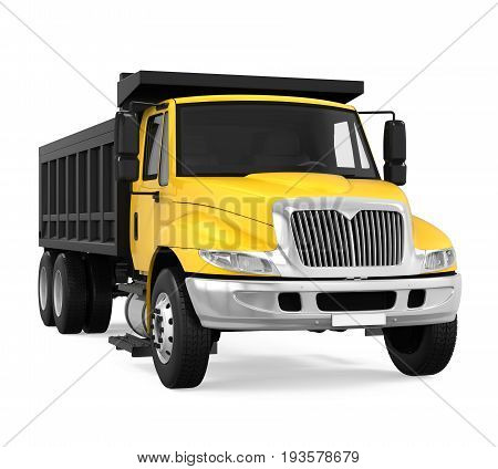 Tipper Dump Truck isolated on white background. 3D render