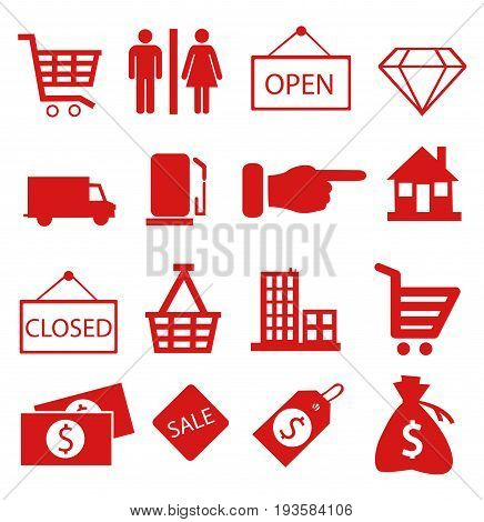 Shopping icons vector illustration on white background