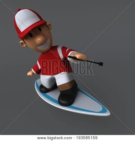 Fun jockey - 3D Illustration