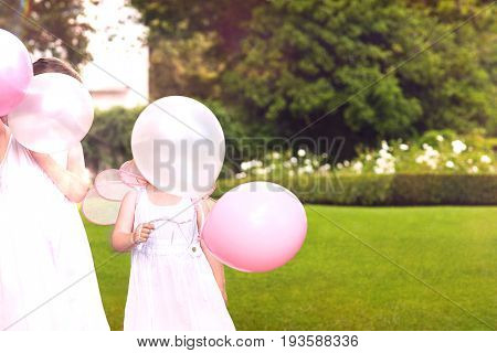 Bridesmaids with Party Balloons