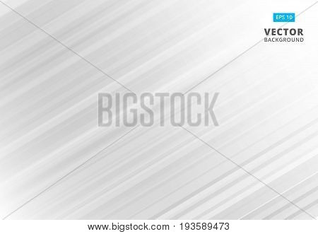 Abstract line pattern white and gray Background with Stripes. Vector Illustration copy space
