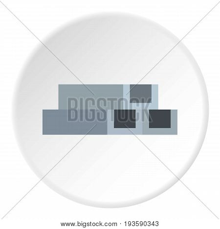 Concrete or metal constructions icon in flat circle isolated vector illustration for web