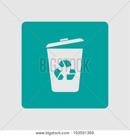 Trash can icon. Delete, Move to Trash, clear the disk space. Vector illustration