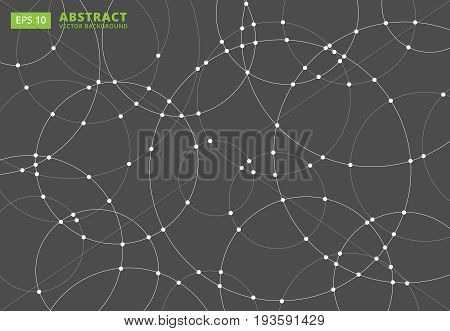 Abstract lines circles round Overlap . concept for your design Vector Illustration Background