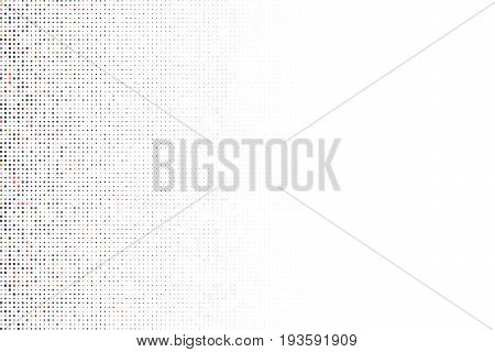 Vector geometric backdrop. Fading rectangle massive. Numerous little squares illustration isolated on white background