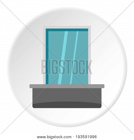 Blind window icon in flat circle isolated vector illustration for web