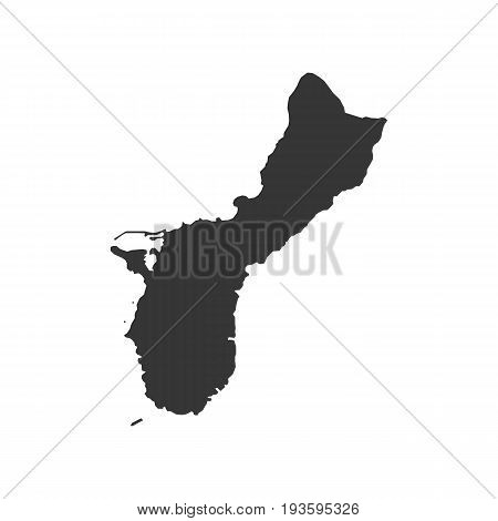 Guam map on the white background. Vector illustration