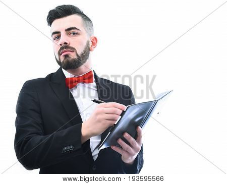 Businessman Or Office Manager With Convincing Face Expression
