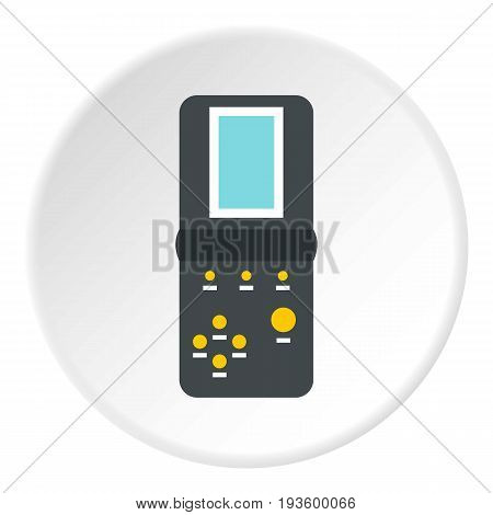 Tetris icon in flat circle isolated vector illustration for web