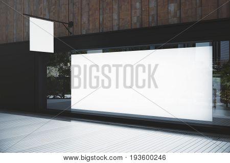 Empty Showcase With Billboard
