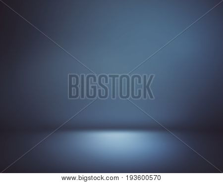 Abstract dark blue background/ interior. Copy space.