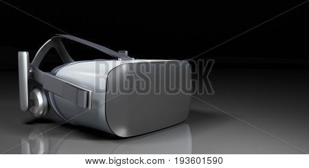 Vr Virtual Reality Headset Half Turned Front View Isolated On White Background Vr Is An Immersive Ex