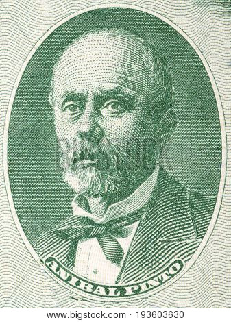 Anibal Pinto portrait from Chilean money - pesos