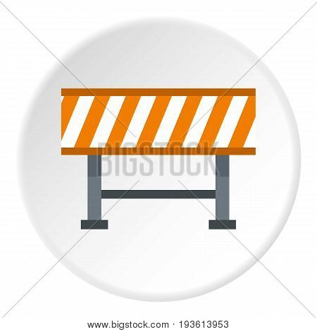 Prohibitory road sign icon in flat circle isolated vector illustration for web