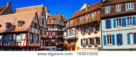 amazing Colmar -traditional floral town in Alsace region,France