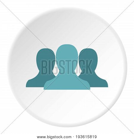 Anonymous avatars icon in flat circle isolated vector illustration for web