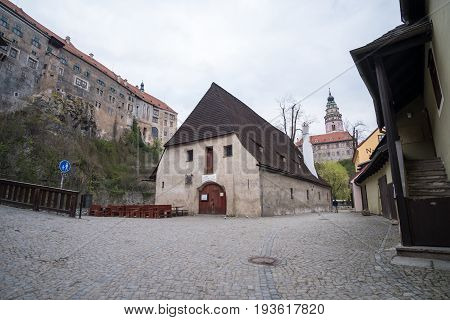 Cesky Krumlov, Czech Republic - 15 April 2017 : View Of The Building In Cesky Krumlov, The City In T