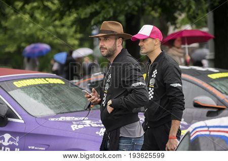 Riga, Latvia - July 01, 2017: Riga host Gumball 3000 Race during the 2017 Rally, being both the starting grid and flag drop destination. Riga to Mykonos Rally.
