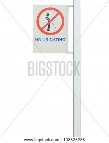 Strange street sign isolated over white background