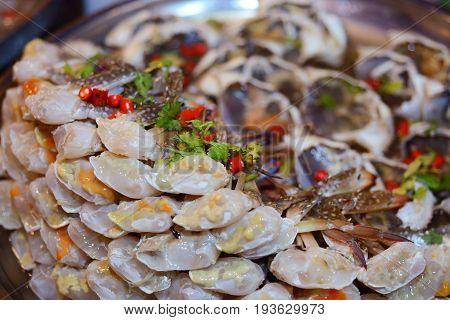 Fresh Sculling Crab Or Steam Crab Leg - Seafood