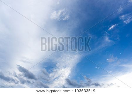 blue sky with clouds for background. cloud moving to form a weird formation. look nice.