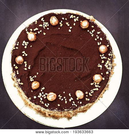 Chocolate Cake, A Beautifully Decorated Cake, A Piece Of Cake