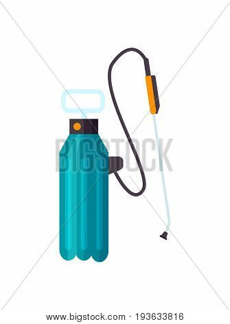 Garden knapsack sprayer vector icon. Agricultural farming tool vector illustration isolated on white background.