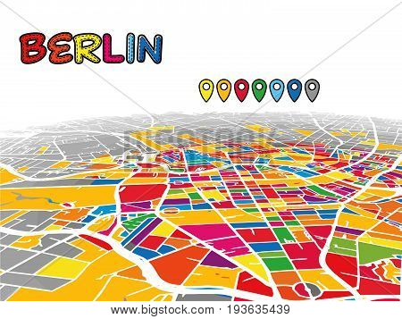 Berlin, Germany, Downtown 3D Vector Map
