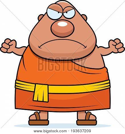 Angry Cartoon Buddhist Monk