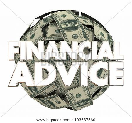Financial Advice Money Service Investment Adviser 3d Illustration