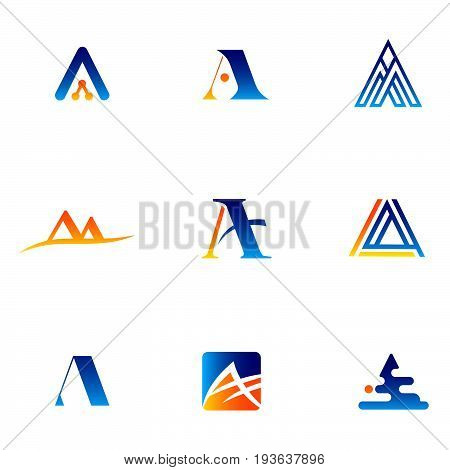 Letter A - vector logo concept illustration. Letter A with check logotype. Abstract logo. Vector logo template. Design element