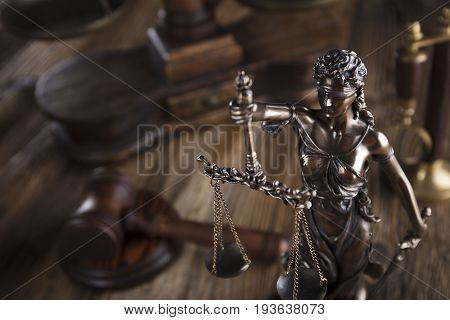 Law concept, Themis - the symbol of justice.