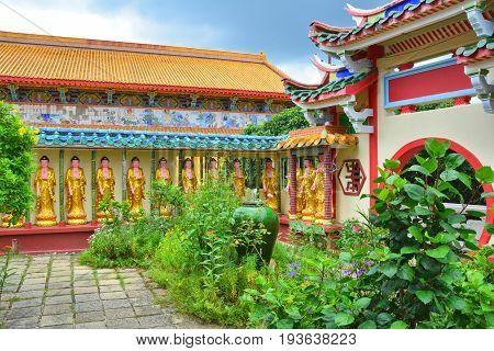 PENANG MALAYSIA - SEPTEMBER 2 2015 : Kek Lok Si Buddhist temple in GeorgeTown on Penang island. Kek Lok Si is the largest Buddhist temple in Malaysia