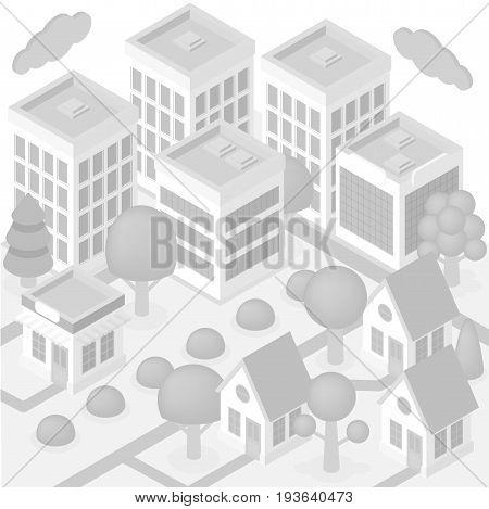 Isometric City White