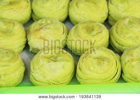 Festival moon cake - Chinese cake in market