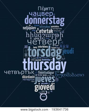 Word Thursday In Different Languages