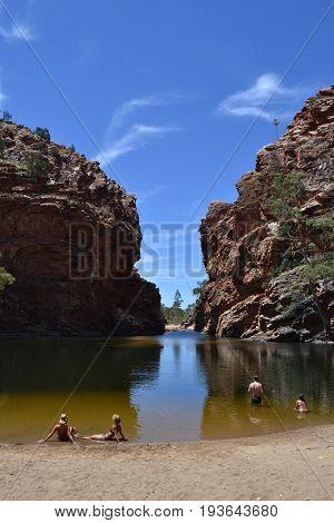 Elery Creek Big Hole of Alice Springs, Australia