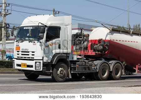 Cement Truck Of Just In Time Express Logistic Company.