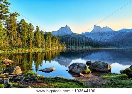 Early Summer Morning On Mountain Lake