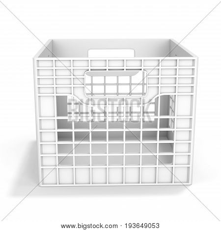 3D Empty Plastic Milk Crate