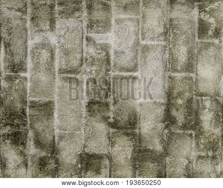 Abstract grunge brickwall background texture in grey tones