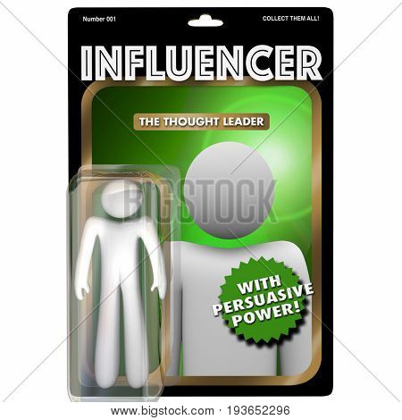 Influencer Person Influential Customer Action Figure 3d Illustration