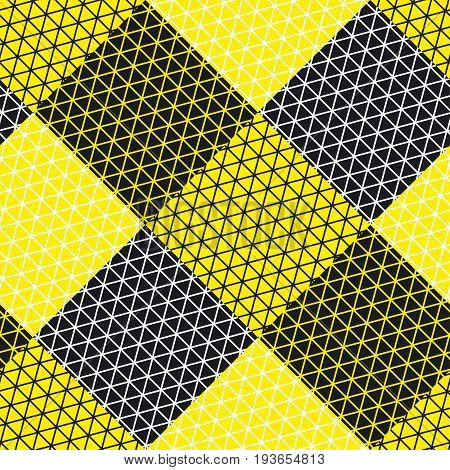 Simple geometry pattern with line mash. Modern geometry seamless pattern vector illustration. Surface design for print and web. Grid style triangle and square motif