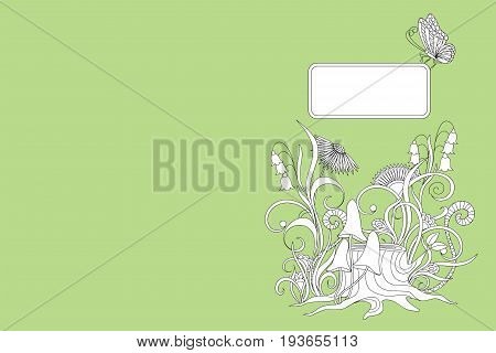 Creative cover design with hand drawn illustration for decorate book notebook sketchbook copybook case stationery. Cover A5 template with back. EPS 10.