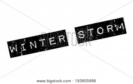 Winter Storm rubber stamp. Grunge design with dust scratches. Effects can be easily removed for a clean, crisp look. Color is easily changed.