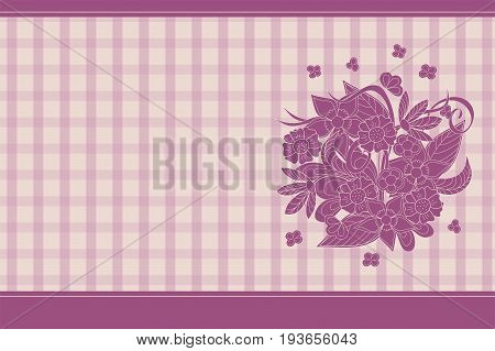 Creative cover design with hand drawn floral composition for decorate book notebook sketchbook copybook case stationery. Cover A5 template with back. EPS 10.