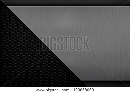 metal plate with mesh background